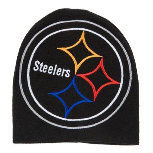 Pittsburgh STEELERS NFL Black HYPE Cuffless Knit Hat *NEW*