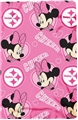 "Pittsburgh Steelers Minnie Mouse NFL 40"" x 50"" Fleece Throw"