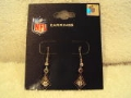 Pittsburgh Steelers Diamond with 2 Clear Rhinestones NFL Silver Dangle Earrings *CLOSEOUT*