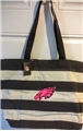 Philadelphia Eagles NFL Pink Logo Natural Striped Drive Canvas Tote Bag *CLOSEOUT*