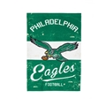 "Philadelphia Eagles NFL 28""x 44"" Vintage LInen 2-Sided Vertical Banner *NEW*"
