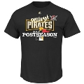 Pittsburgh Pirates MLB 2013 Majestic Post Season Black T Shirt *CLOSEOUT* Size M