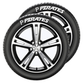Pittsburgh Pirates MLB Team Tire Tatz Sidewall Decals Set of 2 *CLOSEOUT*
