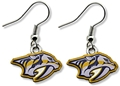 Nashville Predators NHL Silver Dangle Earrings *SALE*