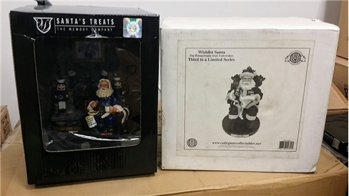 Penn State Nittany Lions NCAA Santa's Treats Santa Resin FIGURINE 6 Count Case *CLOSEOUT*