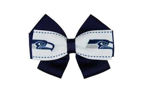 Seattle Seahawks NFL Grace Collection 2 Tone BOW HAIR Clip