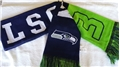 "Seattle Seahawks Reversible NFL #3 Wilson 60"" Team Knit Player Scarf *NEW*"