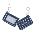 Seattle Seahawks NFL Nylon Polka Dot Coin Purse Key Ring