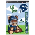 "Seattle Seahawks Lil' Fan NFL Teddy Bear 11"" x 17"" Multi Use Decal *CLOSEOUT*"