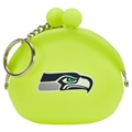Seattle Seahawks NFL Neon Silicone Coin Purse Key Ring *CLOSEOUT*