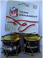 Seattle Seahawks NFL Plastic Drum Ornament 2 Pack Set *CLOSEOUT*
