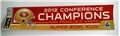 "San Francisco 49ers 2012 NFL Conference Champs 12"" X 3"" Bumper Sticker *CLOSEOUT*"