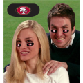 San Francisco 49ers NFL Vinyl Face Decorations 6 Pack Eye Black Strips *CLOSEOUT*