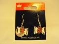San Francisco Giants MLB Bow Silver Dangle Earrings *CLOSEOUT*