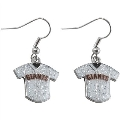 San Francisco Giants MLB Silver Glitter Jersey Dangle Earrings *SALE*