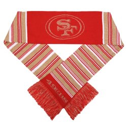 San Francisco 49ers NFL Glitter Stripe 60'' Team Knit SCARF *SALE*