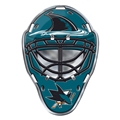 San Jose Sharks NHL Goalie Mask Color Car Emblem *NEW*