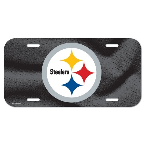 Pittsburgh Steelers NFL Souvenir Black Plastic LICENSE PLATE