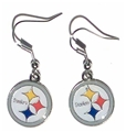 Pittsburgh Steelers Logo NFL Dangle Earrings