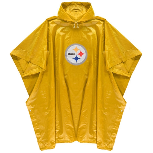 Pittsburgh Steelers NFL Gold Adult Rain PONCHO *NEW*