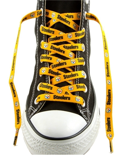Pittsburgh STEELERS NFL 54'' Gold Shoe Laces Pair