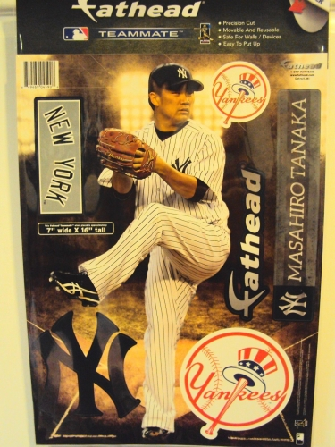 New York YANKEES Masahiro Tanaka MLB 7'' x 16'' Fathead Teammate *CLOSEOUT*