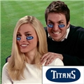 Tennessee Titans NFL Vinyl Face Decorations 6 Pack Eye Black Strips
