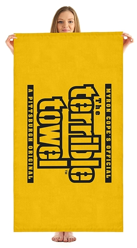 Pittsburgh Steelers Official Gold 30'' x 60'' Terrible BEACH TOWEL