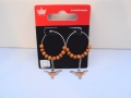 Texas Longhorns NCAA Bead Silver Hoop Earrings