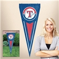 "Texas Rangers MLB 34"" x 14"" Embroidered 1-Sided Yard & Wall Pennant Flag *CLOSEOUT*"