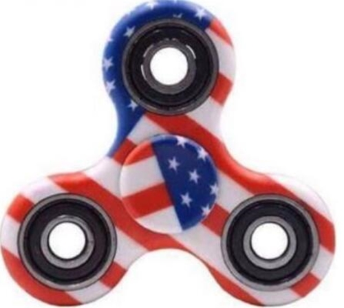 Wholesale Fidget Spinners American Flag Design - Assorted Designs **CLOSEOUT**