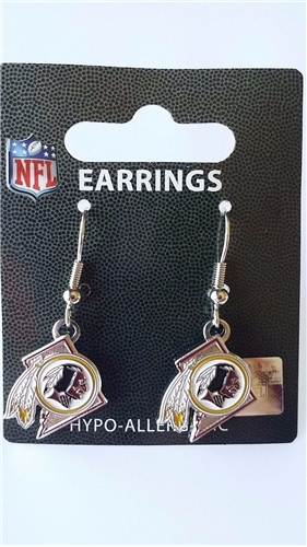 Washington Redskins State Design NFL Dangle Earrings *NEW*