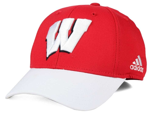 Wisconsin Badgers adidas NCAA Structured Flex CAP Size S/M *SALE*