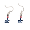 Washington Wizards NBA Silver Dangle Earrings