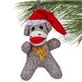 West Virginia Mountaineers NCAA Sock Monkey Ornament *SALE*