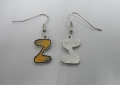 Pittsburgh Pirates Zoltan Z Hands Silver Dangle Earrings