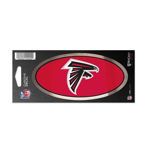 "Atlanta Falcons NFL 3"" x 7"" Chrome Decal *SALE*"