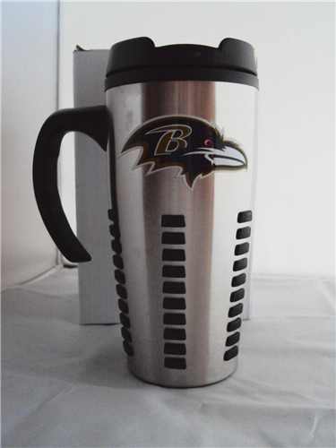 Baltimore Ravens NFL 15oz Aluminum Travel Mug with Handle 6ct Case *SALE*