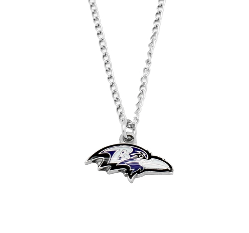 Baltimore Ravens NFL Silver Team Pendant Necklace *CLOSEOUT*