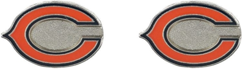Chicago Bears NFL Silver Post Stud Earrings *SALE*
