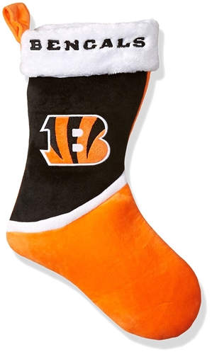 "Cincinnati Bengals NFL Basic Holiday 17"" Christmas Stocking"
