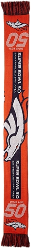 "Denver Broncos Super Bowl 50 Going to the Game NFL 60"" Acrylic Scarf *SALE*"