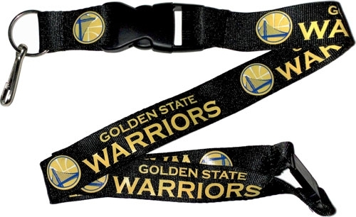 Golden State Warriors NBA Black Lanyard