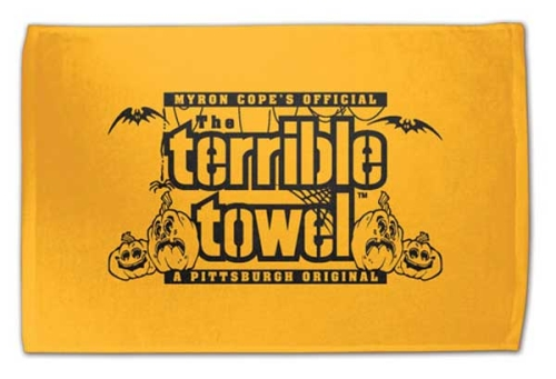 Pittsburgh Steelers Official Gold Terrible Towel Halloween Edition