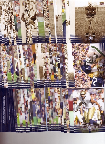 2013 Upper Deck Notre Dame Football 100 Card Base Set *SALE*