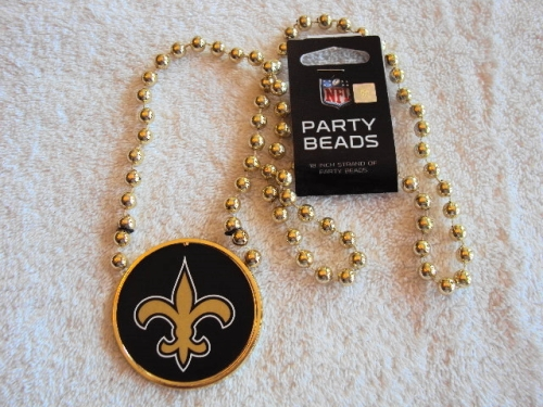 "New Orleans Saints NFL 18"" Strand Gold  Party Beads *CLOSEOUT*"
