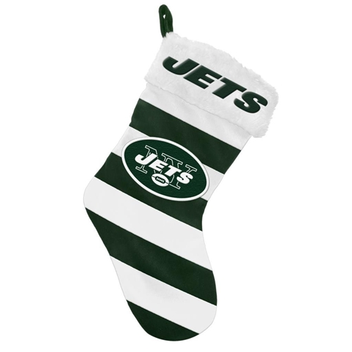 "New York Jets NFL Striped Holiday 17"" Christmas Stocking *CLOSEOUT*"