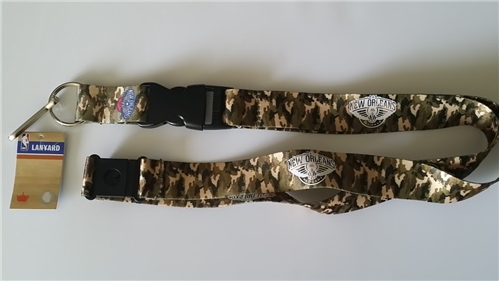 New Orleans Pelicans NBA Brown Camo Lanyard