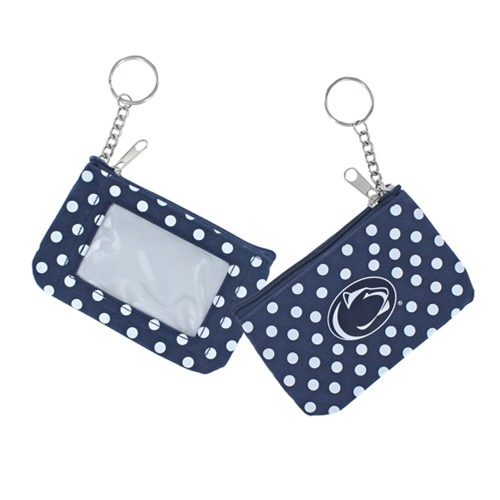 Penn State Nittany Lions NCAA Nylon Coin Purse Key Ring *NEW*
