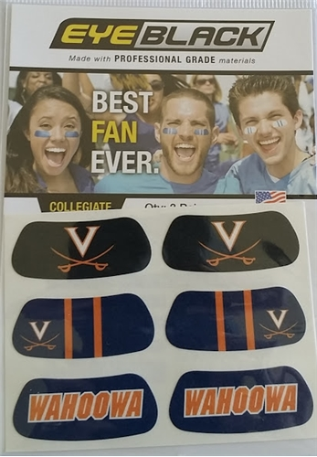 Virginia Cavaliers NCAA 6 Pack Eye Black Strips *CLOSEOUT*